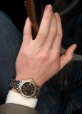 ręki godzina mężczyzna s obrazy stock