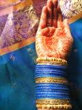 ręki henna Zdjęcia Stock