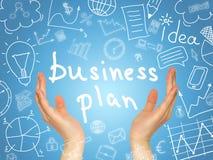 Ręki i biznesów nakreślenia wokoło Obraz Royalty Free