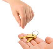 Ręki i klucze Obraz Royalty Free