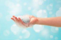 Ręki i mydła piana zdjęcia royalty free