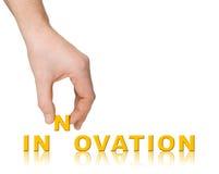 ręki innowaci słowo Obraz Royalty Free
