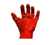 Ręki krwi tło Obrazy Stock