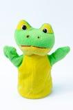 Ręki kukła żaba Zdjęcie Stock
