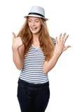 Ręki liczenie - sześć palców Fotografia Royalty Free