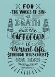 Ręki literowania prezent bóg jest wiecznie życiem ilustracja wektor