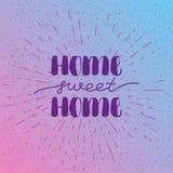 Ręki literowania typografii plakat Kaligraficzny wycena domu cukierki dom Dla parapetówa plakatów, kartka z pozdrowieniami, dom royalty ilustracja