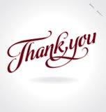 ręki literowanie dziękować wektor ty zdjęcia stock