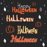 Ręki literowanie ustawiający dla Halloween Zdjęcie Stock