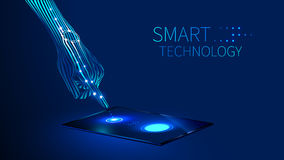 Ręki mądrze technologia royalty ilustracja