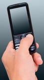 ręki mężczyzna telefon s Zdjęcia Royalty Free