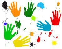 ręki malują plamę Zdjęcia Royalty Free