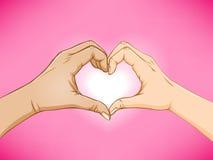 ręki miłość Zdjęcia Stock