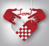 Ręki miłości wektor Zdjęcia Stock