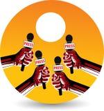 Ręki mic logo royalty ilustracja