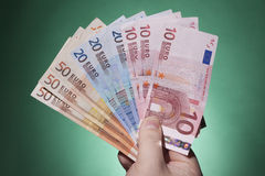 Ręki mienia banknoty Fotografia Stock