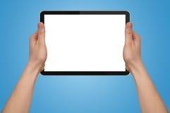 ręki mienia męski komputeru osobisty touchpad Zdjęcie Royalty Free