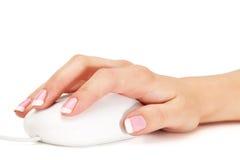 Ręki mienia mysz zdjęcie royalty free