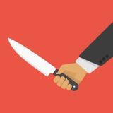 ręki mienia nóż ilustracja wektor