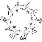 Ręki mienia narzędzia ustalony wektor Zdjęcie Stock