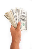 Ręki mienia pieniądze Fotografia Stock
