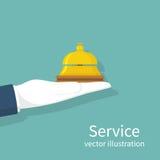 Ręki mienia usługa Bell Zdjęcie Stock