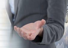 Ręki mienie i oddziałać wzajemnie z przemiana skutkiem Zdjęcie Stock