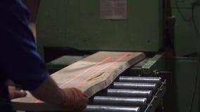 Ręki mistrzowski rżnięty drzewo, woodworking zdjęcie wideo