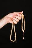 Ręki modlenie z łańcuchem Zdjęcie Stock