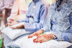 Ręki na podołkach Fotografia Stock
