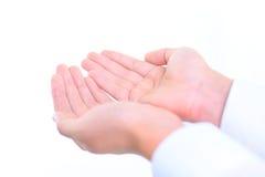 ręki obsługują otwartego Zdjęcia Royalty Free