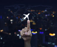 Ręki odciskania samolotowa ikona, elementy ten wizerunek meblujący NASA Obrazy Royalty Free
