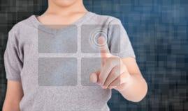 Ręki odciskania socjalny nowożytni guziki Obraz Stock