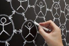 Ręki Ogólnospołeczny Sieci Blackboard zdjęcie stock