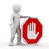ręki osobistości symbol Zdjęcia Stock