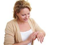 ręki płukanka używać kobiety fotografia royalty free