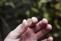 ręki pieniądze połysk Fotografia Stock