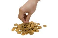 ręki pieniądze zrywanie Zdjęcie Stock