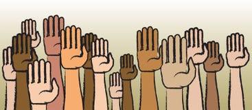 ręki podnoszą twój