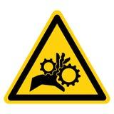 Ręki pogmatwanie Wiruje przekładnia symbolu znaka Odizolowywa Na Białym tle, Wektorowa ilustracja ilustracja wektor
