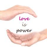 Ręki pojęcie dla miłości jest władzą Fotografia Royalty Free