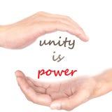 Ręki pojęcie - jedność jest władzą Zdjęcia Royalty Free