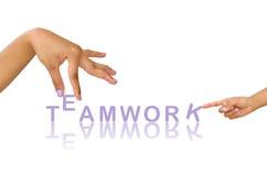 ręki pracy zespołowej słowo Zdjęcia Stock