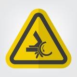 Ręki przyduszenia nękania punktu symbolu Rolkowy znak Odizolowywa Na Białym tle, Wektorowa ilustracja EPS 10 ilustracja wektor