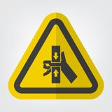Ręki przyduszenia siła Od wierzchołka I dna symbolu znaka Odizolowywa Na Białym tle, Wektorowa ilustracja EPS 10 ilustracji