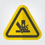 Ręki przyduszenia siły symbolu znak Z Góry Odizolowywa Na Białym tle, Wektorowa ilustracja EPS 10 ilustracja wektor