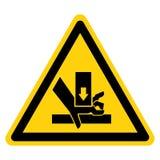 R?ki przyduszenia si?y symbolu znak Z G?ry Odizolowywa Na Bia?ym tle, Wektorowa ilustracja royalty ilustracja