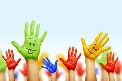 Ręki różni kolory Zdjęcie Royalty Free