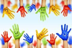 Ręki różni kolory Obrazy Stock
