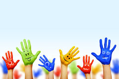 Ręki różni kolory Fotografia Stock